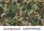 texture military camouflage... | Shutterstock .eps vector #1045999903