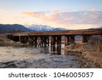 railroad tressle sunset in... | Shutterstock . vector #1046005057