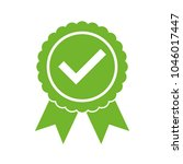 approved certified icon.... | Shutterstock .eps vector #1046017447