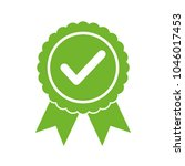approved certified icon.... | Shutterstock .eps vector #1046017453