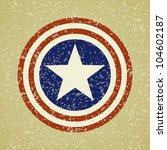 Usa Symbolic On Grunge...