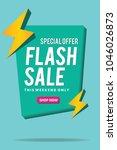 sale banner. flash sale banner... | Shutterstock .eps vector #1046026873
