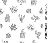 mexican cactus seamless pattern ... | Shutterstock .eps vector #1046034673