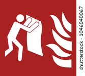 safety sign  fire blanket... | Shutterstock .eps vector #1046040067