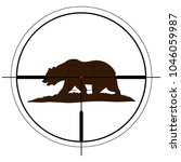 bear shooting target vector... | Shutterstock .eps vector #1046059987