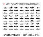 64 most popular world cities... | Shutterstock .eps vector #1046062543