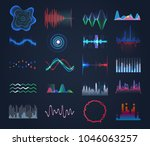futuristic sound equalizer or... | Shutterstock .eps vector #1046063257