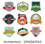 set of isolated badges with... | Shutterstock .eps vector #1046063263