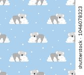 seamless pattern with cute... | Shutterstock .eps vector #1046078323