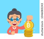 cryptocurrency concept senior... | Shutterstock .eps vector #1046083243