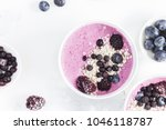 breakfast with muesli  acai... | Shutterstock . vector #1046118787