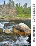 river rapids in the polar urals....   Shutterstock . vector #1046133193