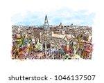 manchester city in england  uk. ... | Shutterstock .eps vector #1046137507