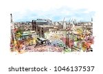 manchester city in england  uk. ... | Shutterstock .eps vector #1046137537