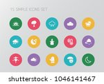 set of 15 editable air icons....