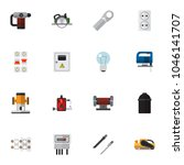 set of 16 editable electrical...