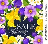 spring sale poster design for... | Shutterstock .eps vector #1046177533
