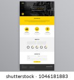 yellow website design template  ...