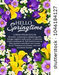 hello springtime wishes poster... | Shutterstock .eps vector #1046184127