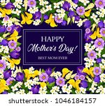 mother day greeting card with... | Shutterstock .eps vector #1046184157