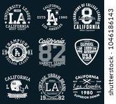 los angeles  california... | Shutterstock .eps vector #1046186143
