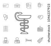 medical snake symbol icon....   Shutterstock .eps vector #1046237923