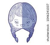 blue shading silhouette of...   Shutterstock .eps vector #1046241037