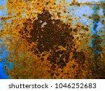 rusty steel sheet with heavy... | Shutterstock . vector #1046252683