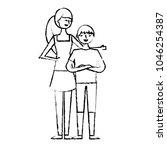 imprimir people characters...   Shutterstock .eps vector #1046254387