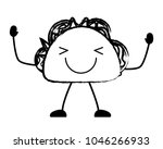 kawaii taco icon | Shutterstock .eps vector #1046266933