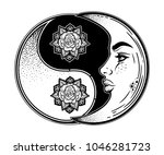 yin and yang symbol with... | Shutterstock .eps vector #1046281723
