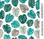 vector tropical pattern with... | Shutterstock .eps vector #1046285617