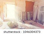 working process of installing... | Shutterstock . vector #1046304373