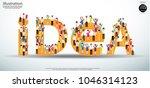 vector flat illustration of... | Shutterstock .eps vector #1046314123