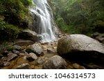 bride's veil waterfall  at...   Shutterstock . vector #1046314573