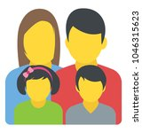 a family unit with a mother ...   Shutterstock .eps vector #1046315623
