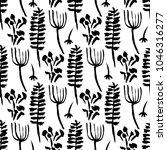 botanical seamless pattern.... | Shutterstock .eps vector #1046316277