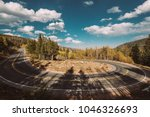 highway with hairpin turn ... | Shutterstock . vector #1046326693