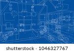 sketch industrial equipment.... | Shutterstock .eps vector #1046327767