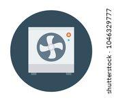 fan cooler air  | Shutterstock .eps vector #1046329777