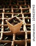 lot of seedlings in pots... | Shutterstock . vector #104635943