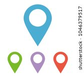 maps pin. location pin. pin... | Shutterstock .eps vector #1046379517