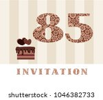 the invitation to the birthday... | Shutterstock .eps vector #1046382733