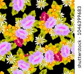 beautiful floral seamless... | Shutterstock .eps vector #1046399683