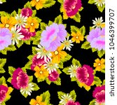 beautiful floral seamless... | Shutterstock .eps vector #1046399707