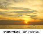 dramatic colorful sea sunset... | Shutterstock . vector #1046401933