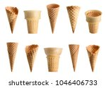 collection of empty ice cream... | Shutterstock . vector #1046406733