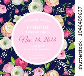 save the date card with blossom ... | Shutterstock .eps vector #1046409637