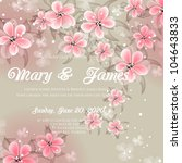 wedding card or invitation with ... | Shutterstock .eps vector #104643833