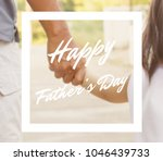 happy father's day   Shutterstock . vector #1046439733
